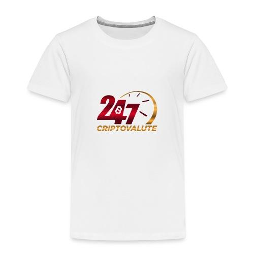 Criptovalute 247 Logo 1 - Maglietta Premium per bambini