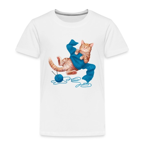 Cozy Cat - Kinder Premium T-Shirt