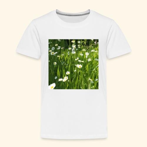 Prato fiorito disegnato - Maglietta Premium per bambini