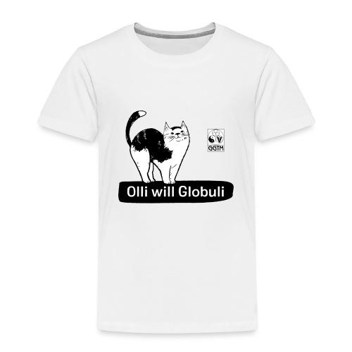 Katze Olli transparent - Kinder Premium T-Shirt