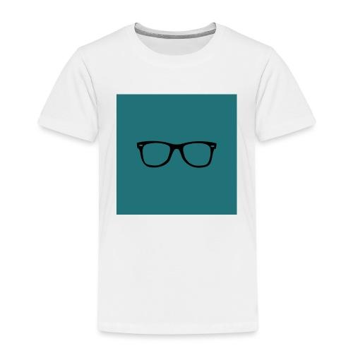 Lunettes - Fond bleu mat - T-shirt Premium Enfant