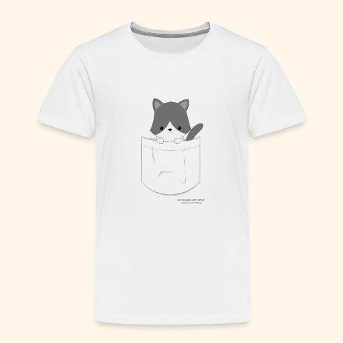 Katze in Tasche - Kinder Premium T-Shirt