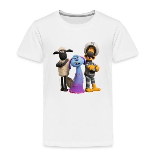 Shaun das Schaf Farmageddon Shaun, Bitzer und Lula - Kinder Premium T-Shirt