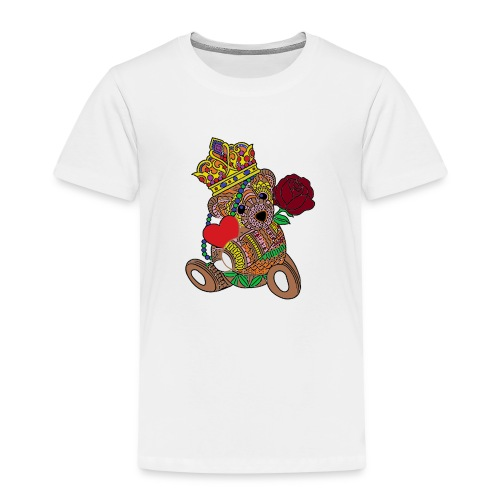 Miś na walentynki - Koszulka dziecięca Premium