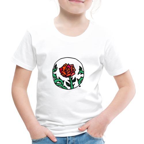 Rose Rouge Piquante en Médaillon - T-shirt Premium Enfant