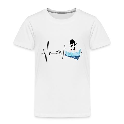 Heartbeat Pinguin 2 - Kinder Premium T-Shirt