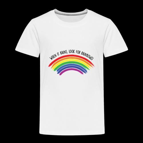 When it rains, look for rainbows! - Colorful Desig - Maglietta Premium per bambini