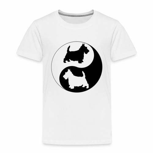 yin yang scotties the perfect balance - Kids' Premium T-Shirt