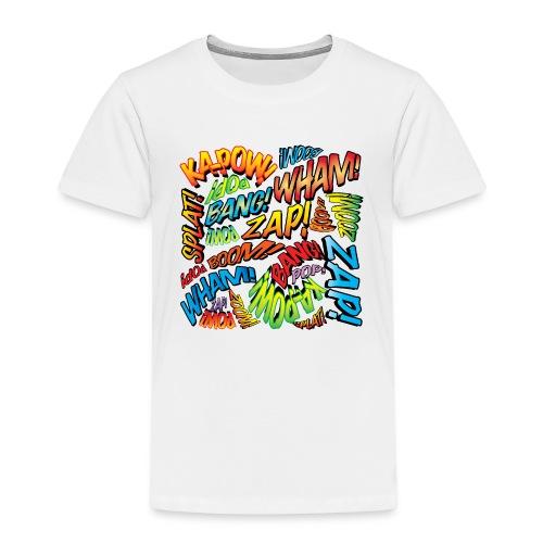 Comic Book Pop Art Colorful Typography Pattern - Kids' Premium T-Shirt
