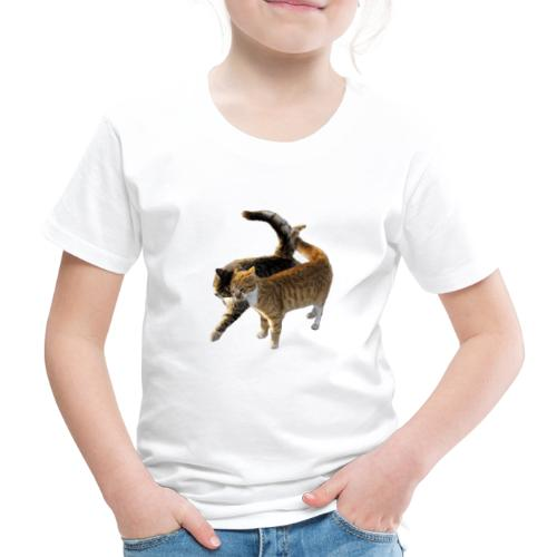 happy cats cartoon - Kids' Premium T-Shirt