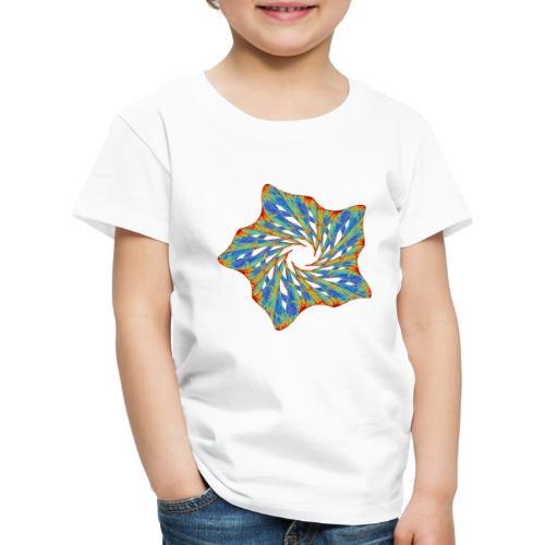 Bunter Seestern mit Dornen 9816j - Kinder Premium T-Shirt