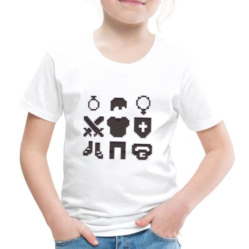 RPG Inventory Slots - Børne premium T-shirt