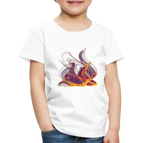 Log fire Campfire Flame flame fire 12435i - Kids' Premium T-Shirt