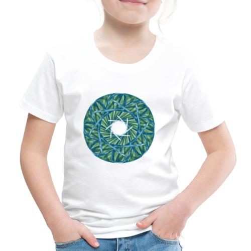 Rosette aus Dornen und Grashalmen Mandala 12247oce - Kinder Premium T-Shirt