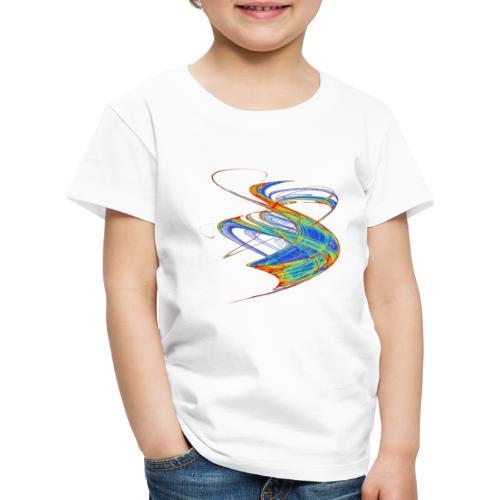 Farbenwind buntes Chaos Aquarell 13720 jet - Kinder Premium T-Shirt