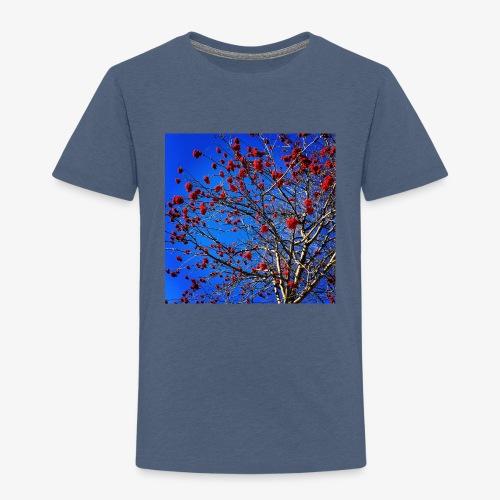 Red Flowers and Blue Sky - Maglietta Premium per bambini