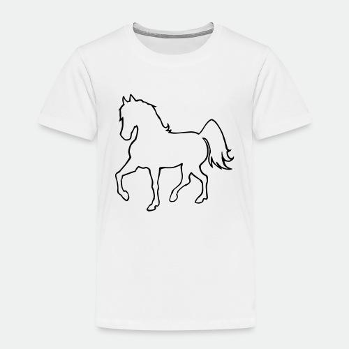 Proud Horse Outline - Kids' Premium T-Shirt