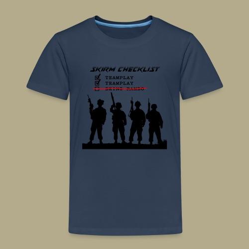 Skirm Checklist - Kinderen Premium T-shirt