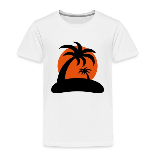 palm island sun - Kinderen Premium T-shirt