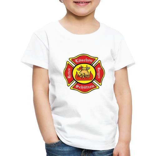 Feuerwehrschild - Kinder Premium T-Shirt