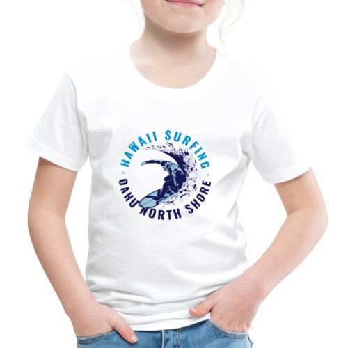OAHU NORTH SHORE SURFING 2 - Maglietta Premium per bambini