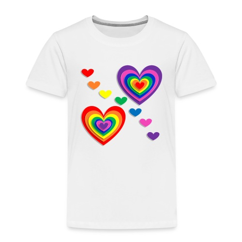 Flower Power Love - Kinder Premium T-Shirt