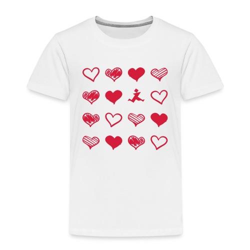 15 Herzen und Tangram - Kinder Premium T-Shirt