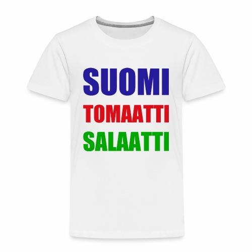 SUOMI SALAATTI tomater - Premium T-skjorte for barn