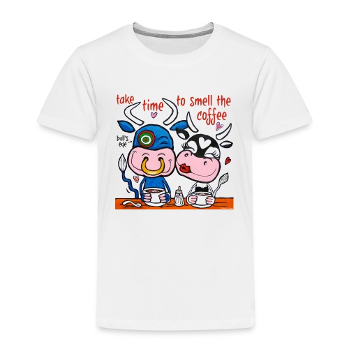 Verliefde koeien drinken koffie - Kinderen Premium T-shirt
