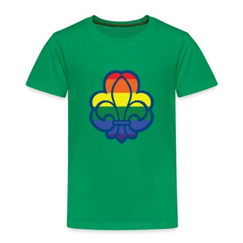 Regnbuespejder hvide t-shirts - Børne premium T-shirt