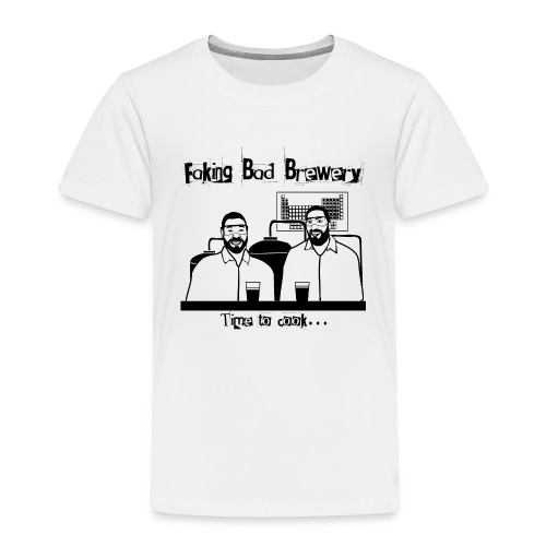 Black and White Logo - Kids' Premium T-Shirt