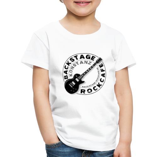 Backstage Logo einfach Schwarz - Kinder Premium T-Shirt