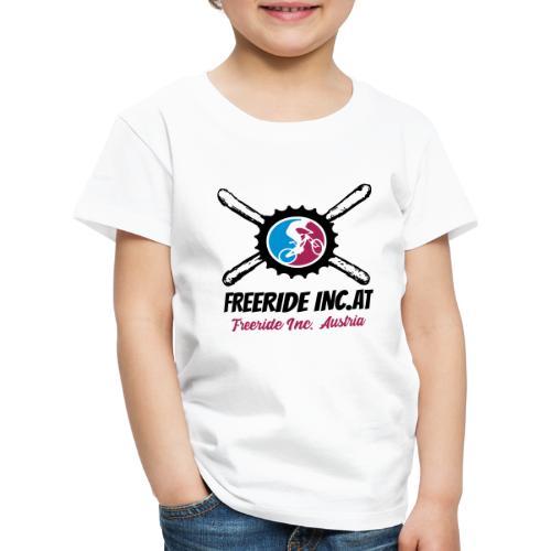 Freeride Inc. Austria Vektor Logo - Kinder Premium T-Shirt