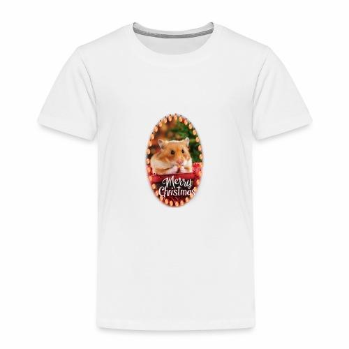 Süßer Hamster Weihnachten Weihnachtsmotiv Nager - Kinder Premium T-Shirt