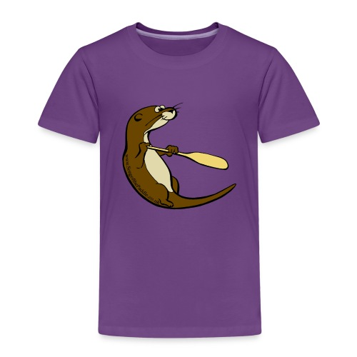 Song of the Paddle; Quentin classic pose - Kids' Premium T-Shirt
