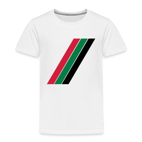 Rood groen zwarte banen - Kinderen Premium T-shirt