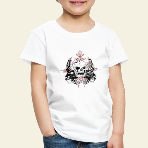 Grunge Rock N' Roll Skull - Børne premium T-shirt