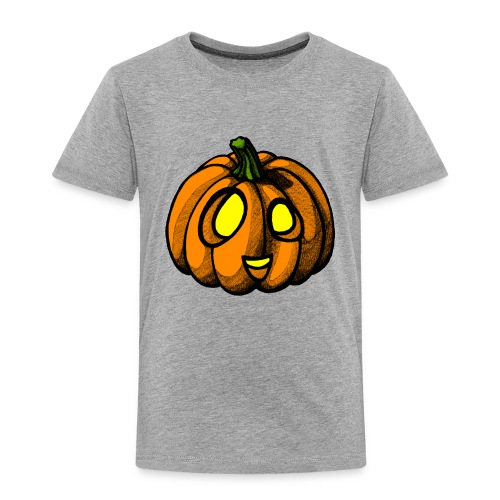 Pumpkin Halloween scribblesirii - Børne premium T-shirt