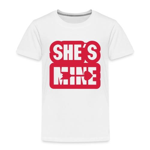 she s mine fleche coeur saint valentin - T-shirt Premium Enfant