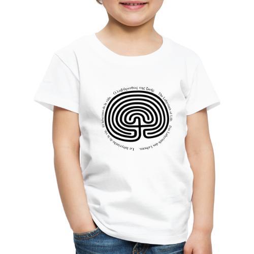 Labyrinth tria - Kinder Premium T-Shirt