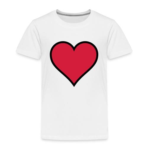 Outline Heart - Kids' Premium T-Shirt