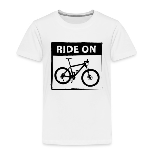 Ride On MTB 1 Color - Kinder Premium T-Shirt