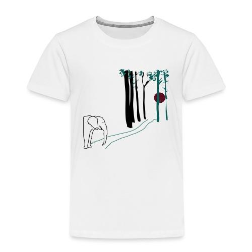 Elefant som går mot solen - Premium-T-shirt barn