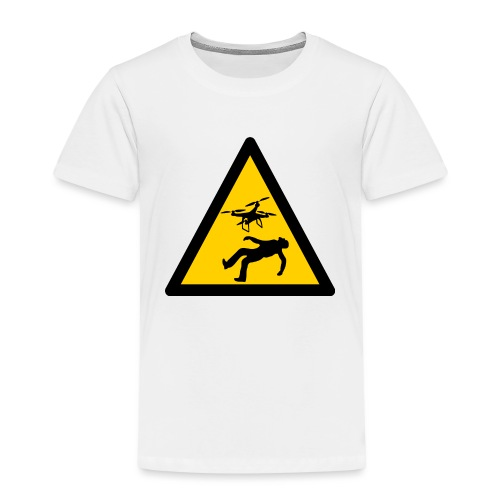Señal advertencia peligro warning drones - Camiseta premium niño