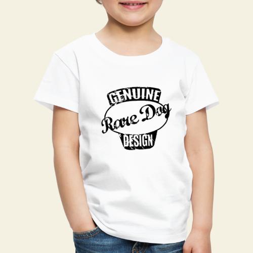 raredogdesign black - Børne premium T-shirt