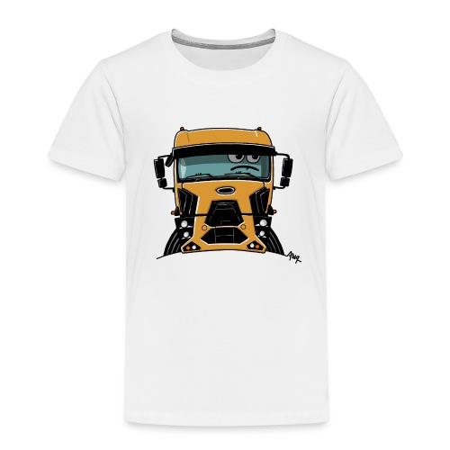 0812 F truck geel - Kinderen Premium T-shirt