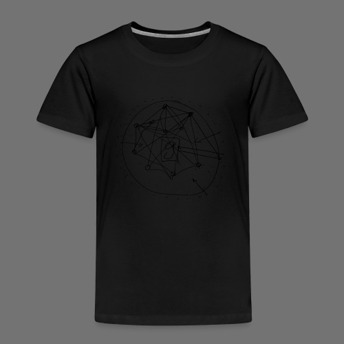 SEO strategia No.1 (musta) - Lasten premium t-paita