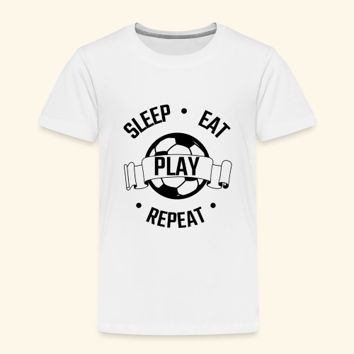 FOOTBALL soccer - Eat sleep play repeat - ballon - T-shirt Premium Enfant
