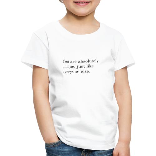 Unique - Kinderen Premium T-shirt