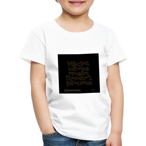 Design Nicht ohne mein Smartphone gold 4x4 - Kinder Premium T-Shirt
